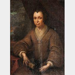 School of Pieter Cornelisz. van Slingelandt (Dutch, 1640-1691)      Older Woman in Brown, Seated, Holding a Book