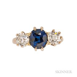 Antique Sapphire and Diamond Ring, T.B. Starr