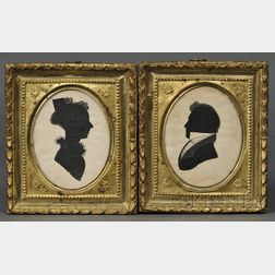 Pair of Silhouettes of a Lady and Gentleman