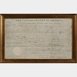 Monroe, James (1758-1831) Land Deed Signed, 16 April 1824.