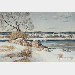 Paul Strisik (American, 1918-1998)      Winter Inlet