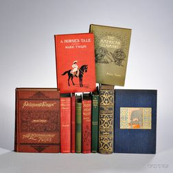 Twain, Mark (1835-1910) First Editions, Nine Volumes.