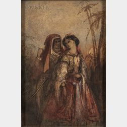 School of Alexandre Gabriel Decamps (French, 1803-1860    Orientalist Couple