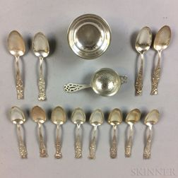 Twelve George Shiebler & Co. Sterling Silver Teaspoons