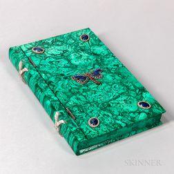 Jeweled Malachite Book Box
