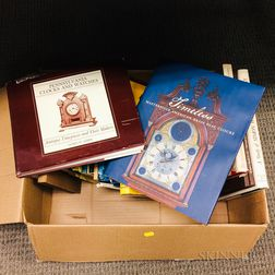 Box of Books on Antique Clocks and Related Timepieces
