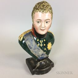 Early Staffordshire Bust of Alexander I of Russia
