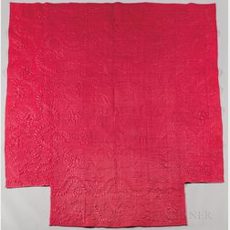 Raspberry Calamanco Wool Coverlet