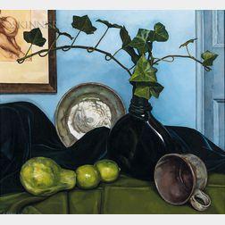 Luigi Lucioni (American, 1900-1988)      Scherzo in Green