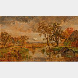 Jasper Francis Cropsey (American, 1823-1900)      Landscape