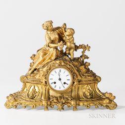 Japy Freres Gilt-bronze Mantel Clock