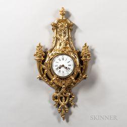 Cast Gilt Cartel Clock