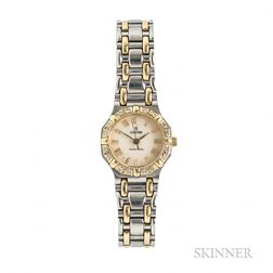 "Lady's Concord Stainless Steel and 18kt Gold ""Saratoga"" Wristwatch"