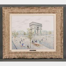 André Gisson (American, 1921-2003)      L'Arc de Triomphe
