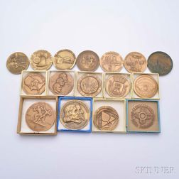 Sixteen State-related Commemorative Bronze Medals