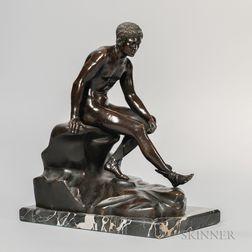 Grand Tour Bronze Figure of Hermes