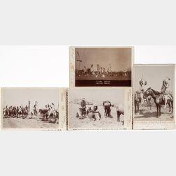 Four Cabinet Cards of Plains Indians