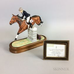 "Dorris Lindner for Royal Worcester ""Stroller and Marion Coakes"" Horse and Rider"