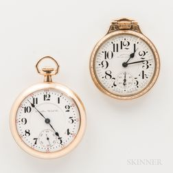 """Hamilton """"946"""" and """"992B"""" Open-face Watches"""