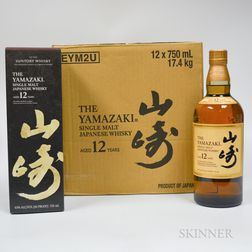 Yamazaki 12 Years Old, 12 750ml bottles (oc)