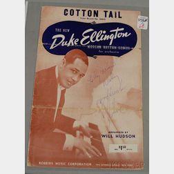 Duke Ellington Autographed Illustrated Cotton Tail   Outer Sleeve
