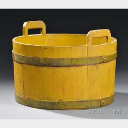 Shaker Yellow-painted Wood Tub