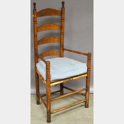 Maple and Ash Slat-back Armchair.