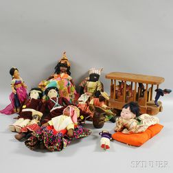 Group of Assorted International Dolls