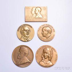 Twenty Assorted Bronze Medals