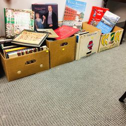 Four Boxes of Books on American 19th Century American Folk Art