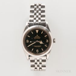 """Early Rolex Glossy Black Dial """"Explorer"""" Reference 1016 Wristwatch"""