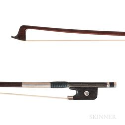 French Silver-mounted Viola Bow, Claude Thomassin