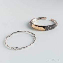 Two Modernist Bracelets