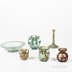 Six Ancient Glass Vessels