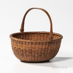 Small Circular Swing-handled Nantucket Basket
