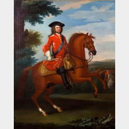 Attributed to John Wootton (British, 1686-1765)    Portrait of His Majesty King George II of England