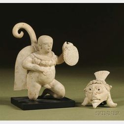 Pre-Columbian Pottery Figure of a Priest