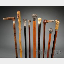 Collection of Forty-nine Walking Sticks and Canes
