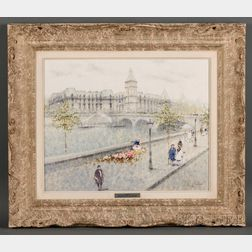 André Gisson (American, 1921-2003)      The Louvre