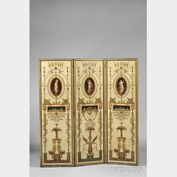 French Neoclassical Three-panel Screen