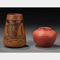 Two North Dakota School of Mines Vases