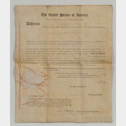 Jefferson, Thomas (1743-1826) Letters Patent, Signed, 2 August 1808.