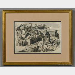 Winslow Homer Civil War Print Thanksgiving in Camp