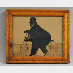Framed Silhouette of Reverent John Boltman