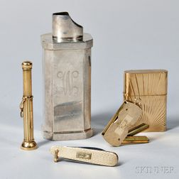 Four 14kt Gold Gentleman's Items