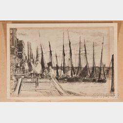 Two James Abbott McNeill Whistler Billingsgate Collotype Facsimiles.        Estimate $20-200