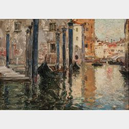 Oliver Dennett Grover (American, 1861-1927)      Canal in Venice