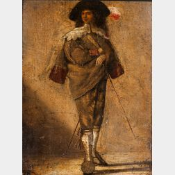 School of Johan le Ducq (Dutch, 1629-1676/77)      Standing Figure of a Young Cavalier in a Plumed Hat