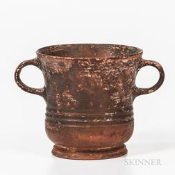 Roman Terra-cotta Handled Cup