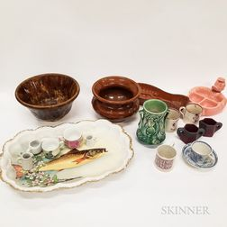 Thirty-one Pieces of Ceramic and Pottery Tableware